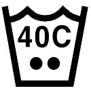Prać w pralce, Temperatura (40°C)